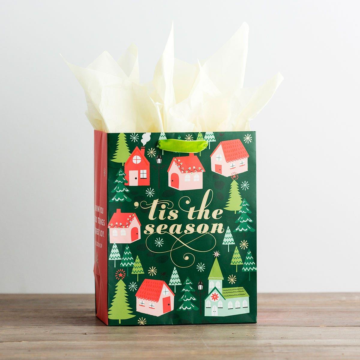 Tis the Season - Medium Christmas Gift Bag, KJV