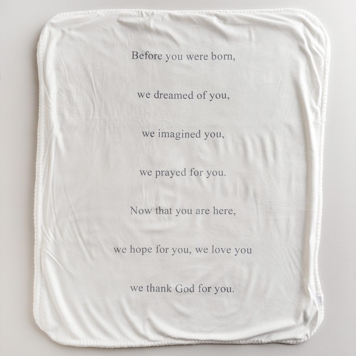 Prayer For You Sherpa Blanket