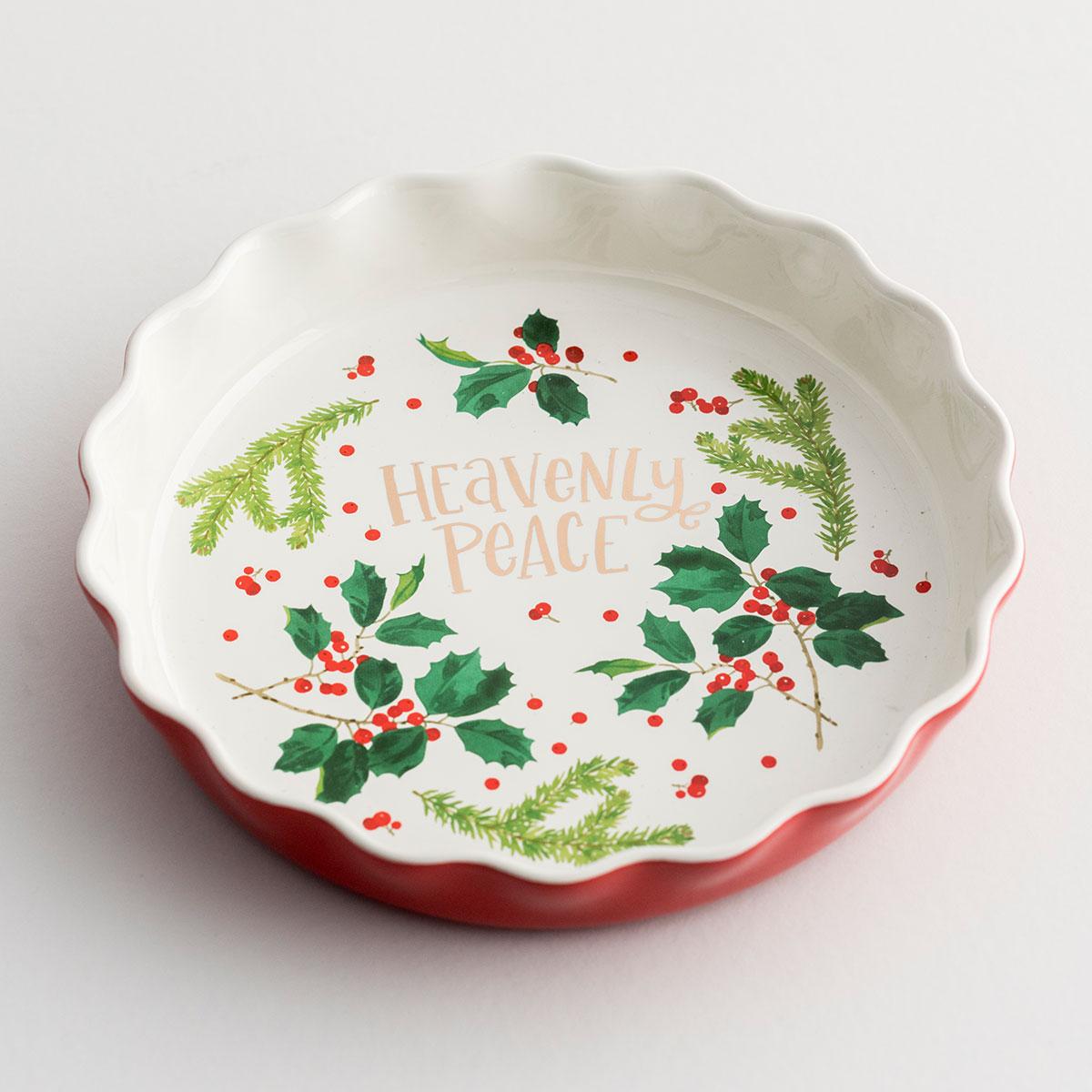Heavenly Peace - Christmas Ceramic Pie Plate