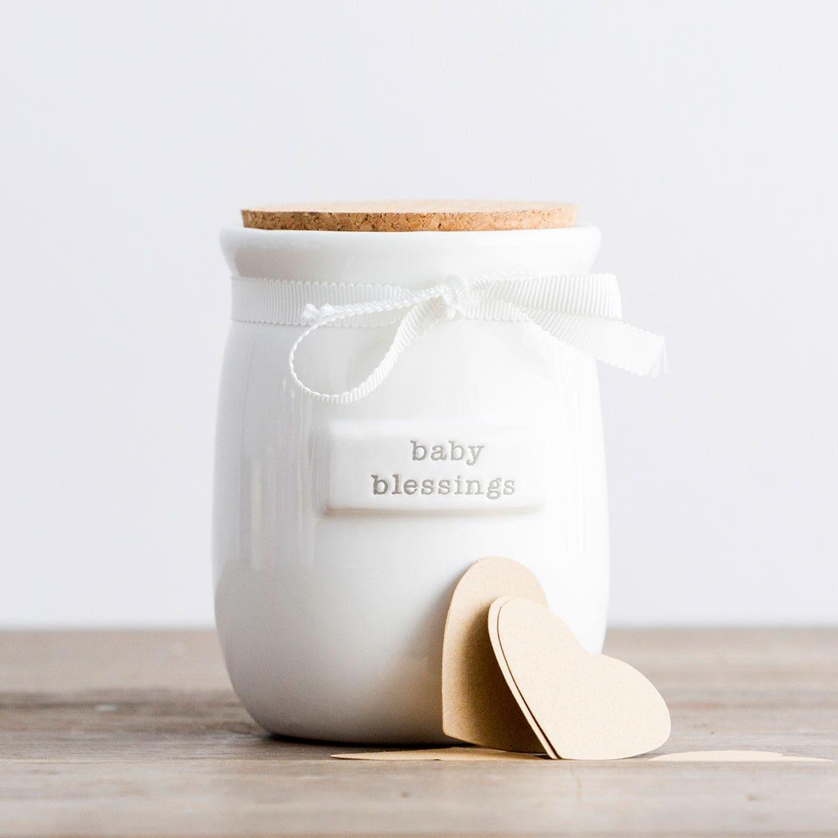 Baby Blessings - Ceramic Jar and Kraft Cards Gift Set
