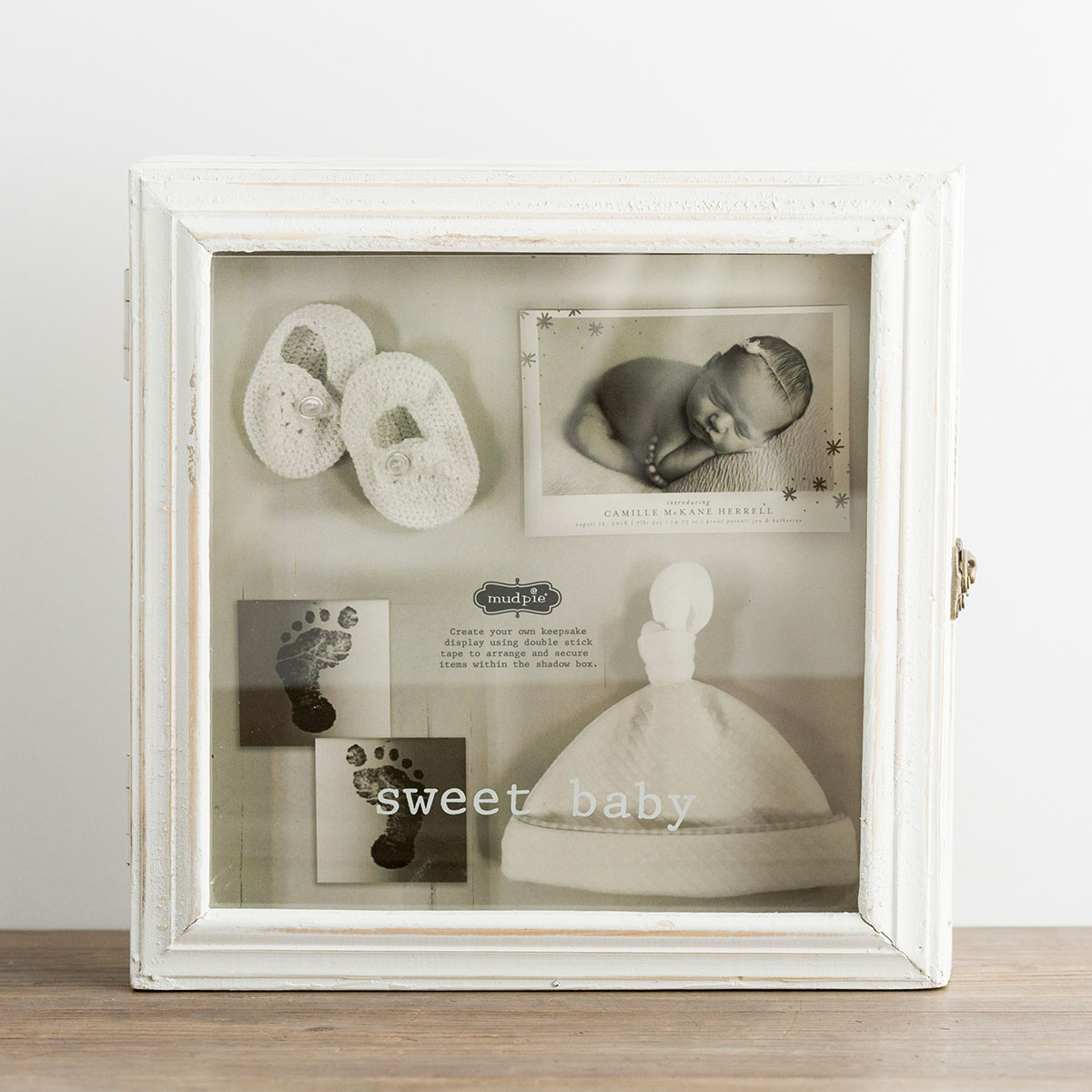 Sweet Baby - Wooden Shadow Box