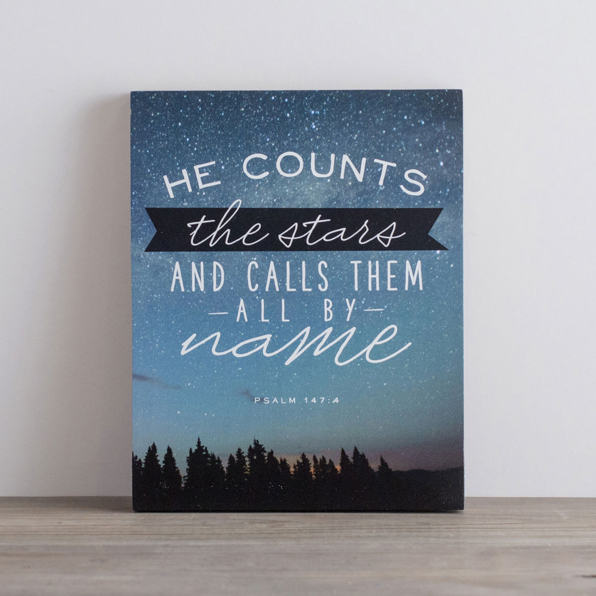 He Counts the Stars - Letterpress Block