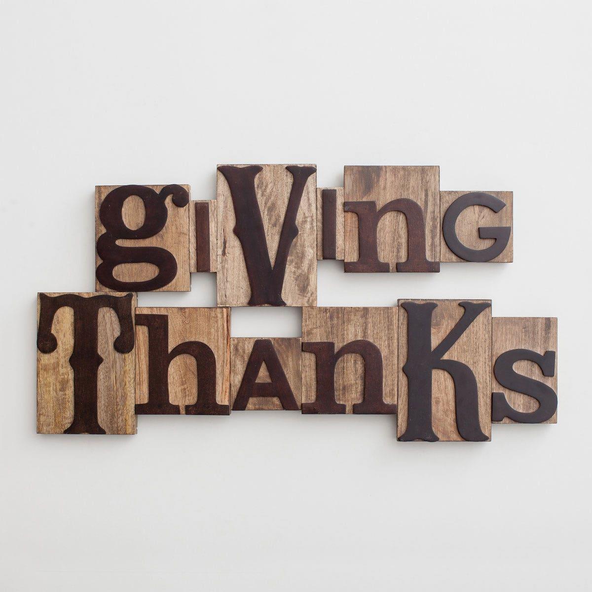 Giving Thanks - Letterpress Block Set