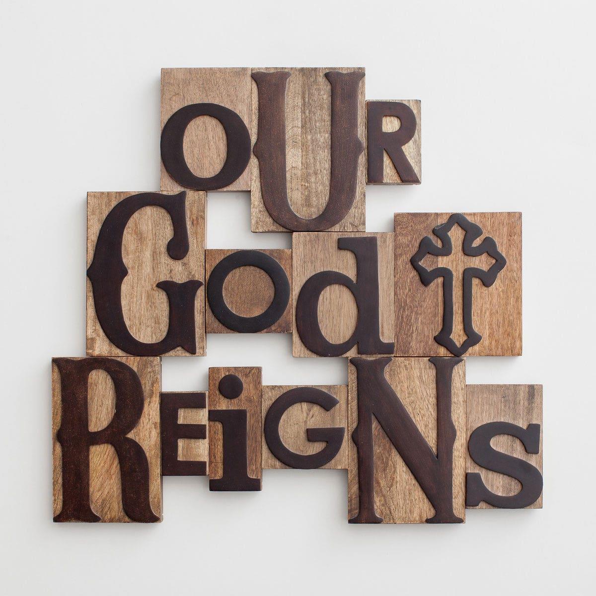 Our God Reigns - Letterpress Block Set