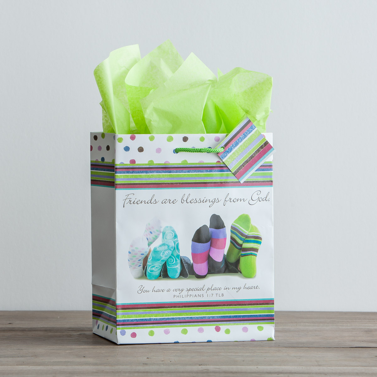 Christian Friends Gift Bag with tissue