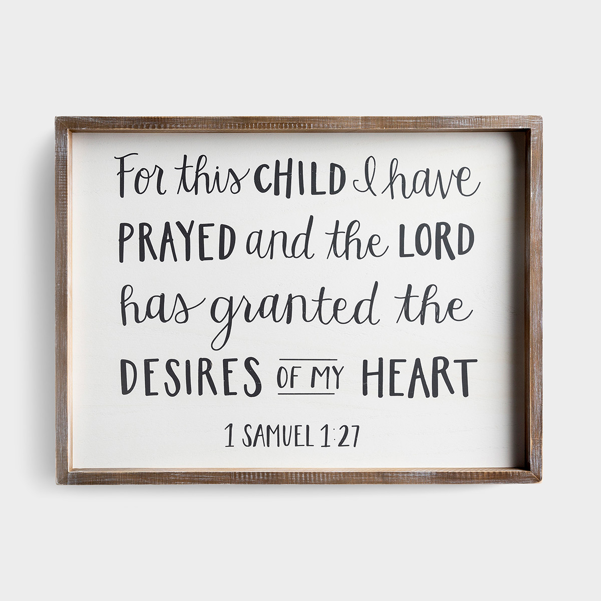 For This Child I Have Prayed - Large Framed Wall Board