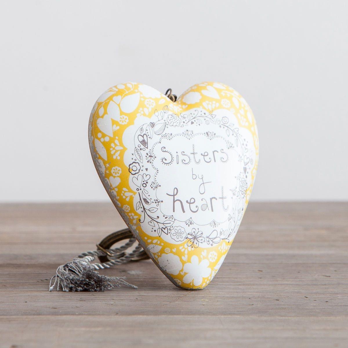 Sisters by Heart - Art Heart Sculpture