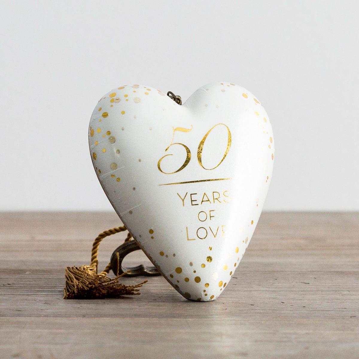 50 Years of Love - Art Heart Sculpture