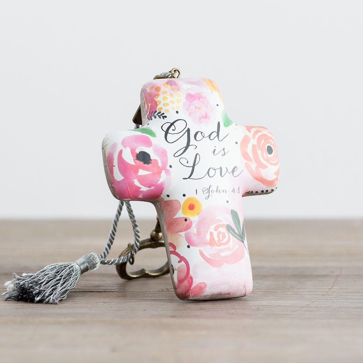 God Is Love - Artful Cross Sculpture