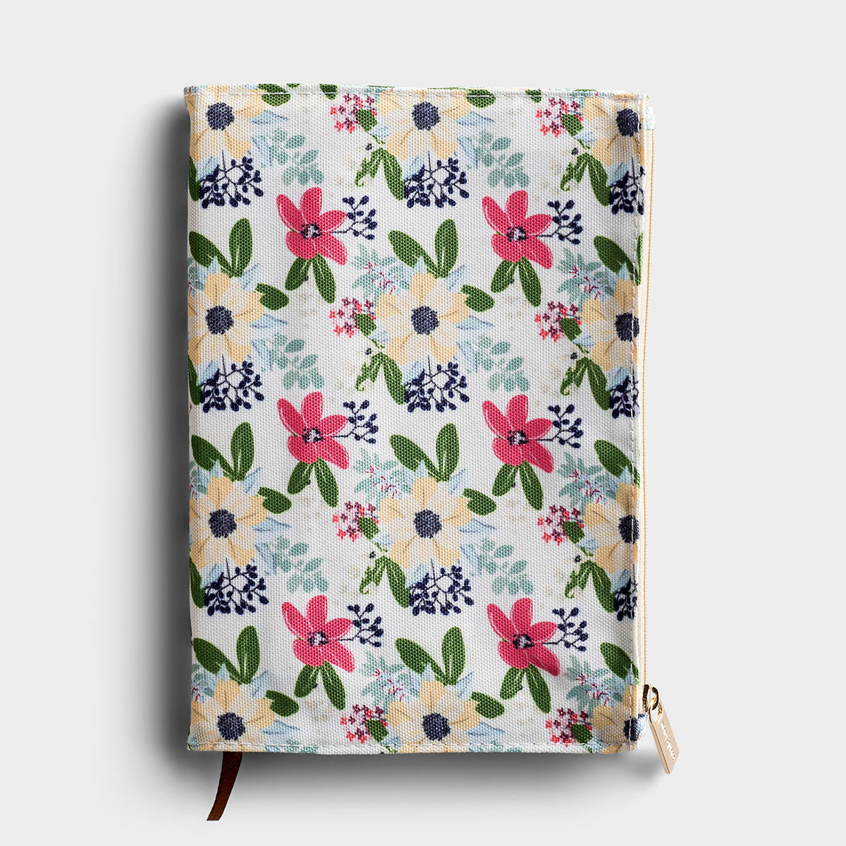 Floral Zip Pouch Journal - Yellow