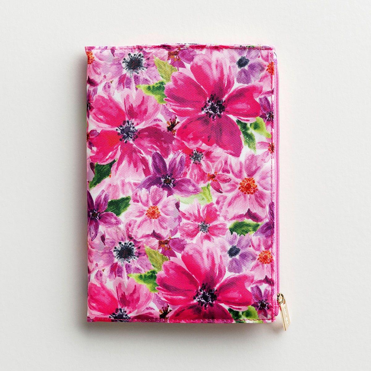 Floral Zip Pouch Journal - Cambridge