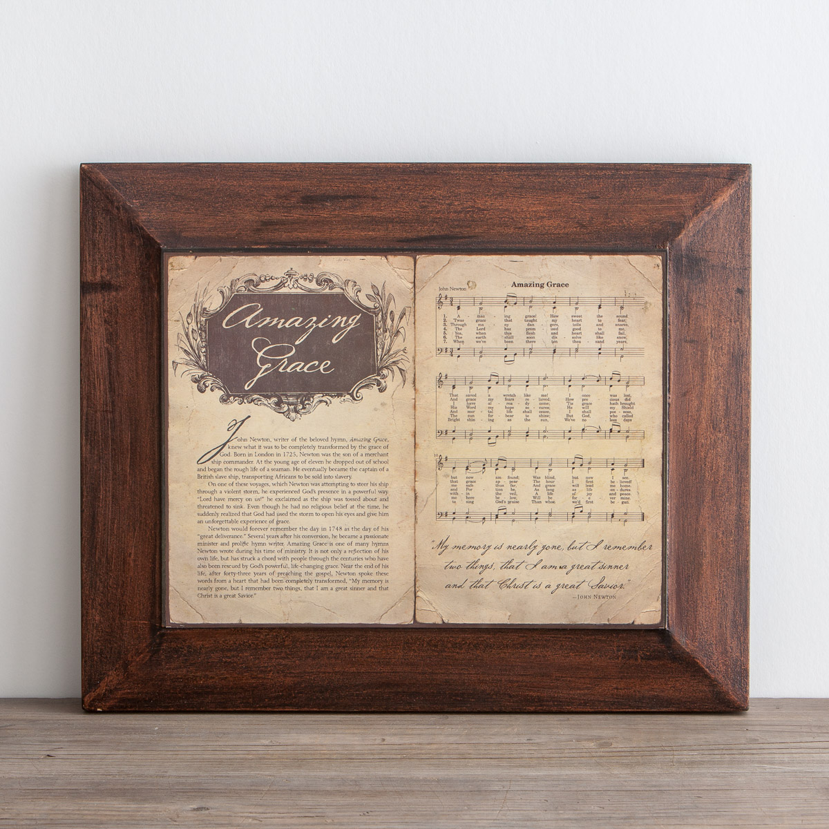 Amazing Grace, Story & Hymn - Wall Art