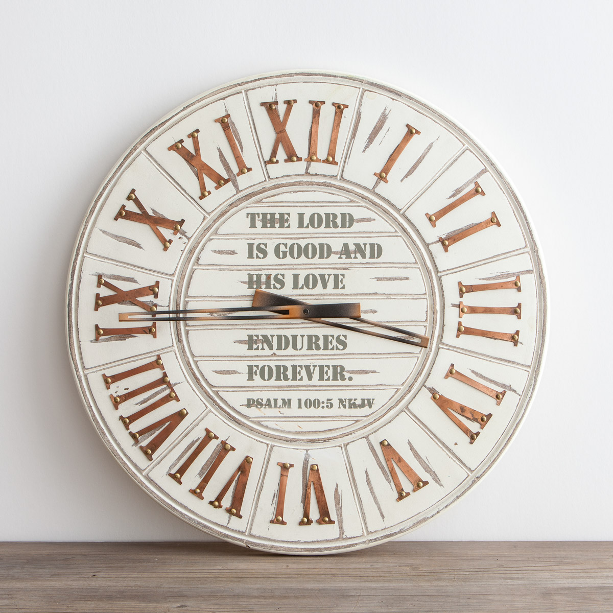 His Love Endures Forever - Wall Clock