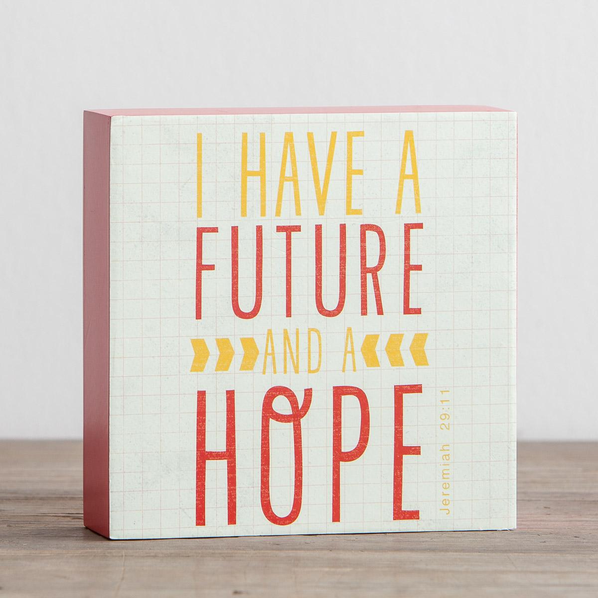 A Future and a Hope - Inspirational Plaque