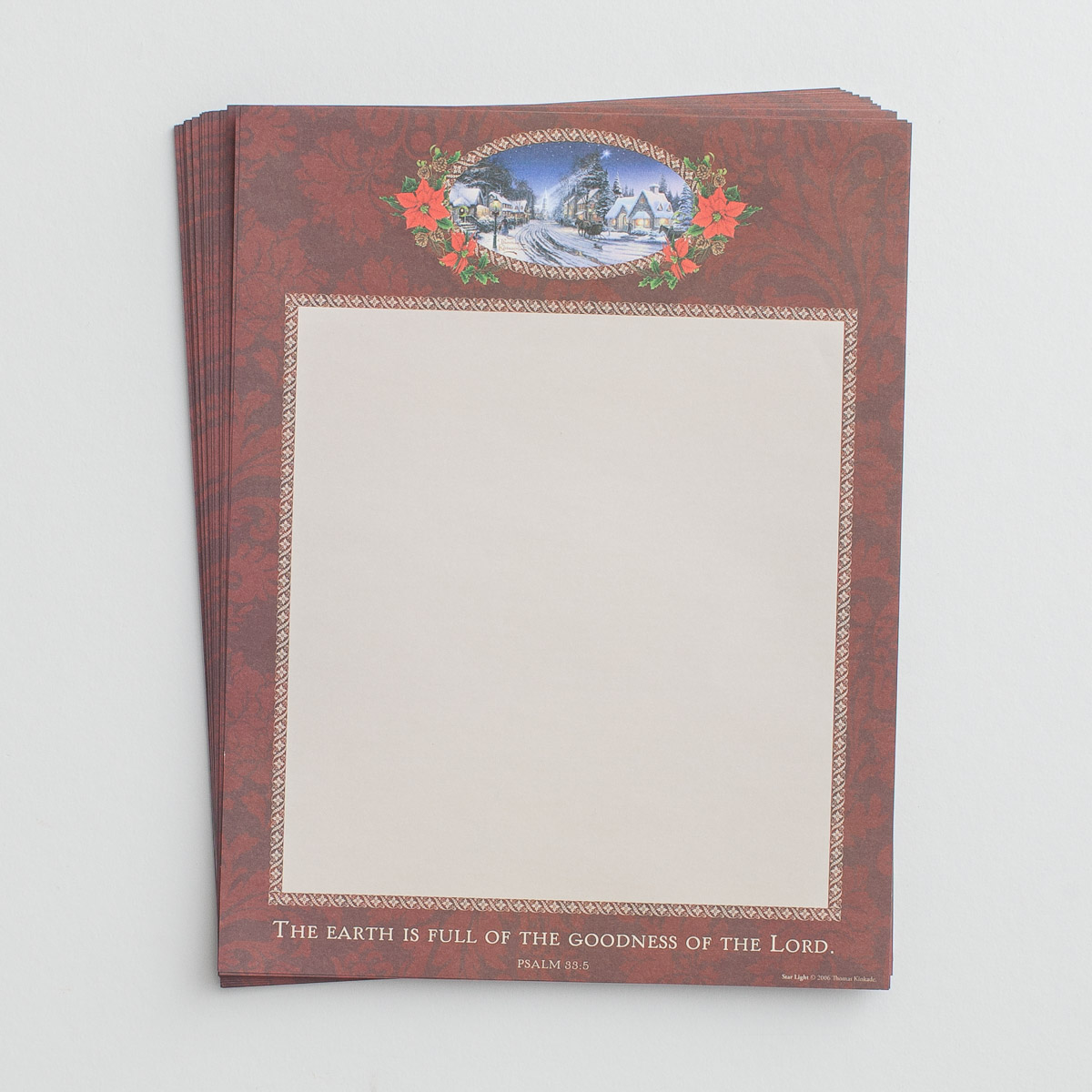 Thomas Kinkade - Goodness of the Lord - Christmas Stationery