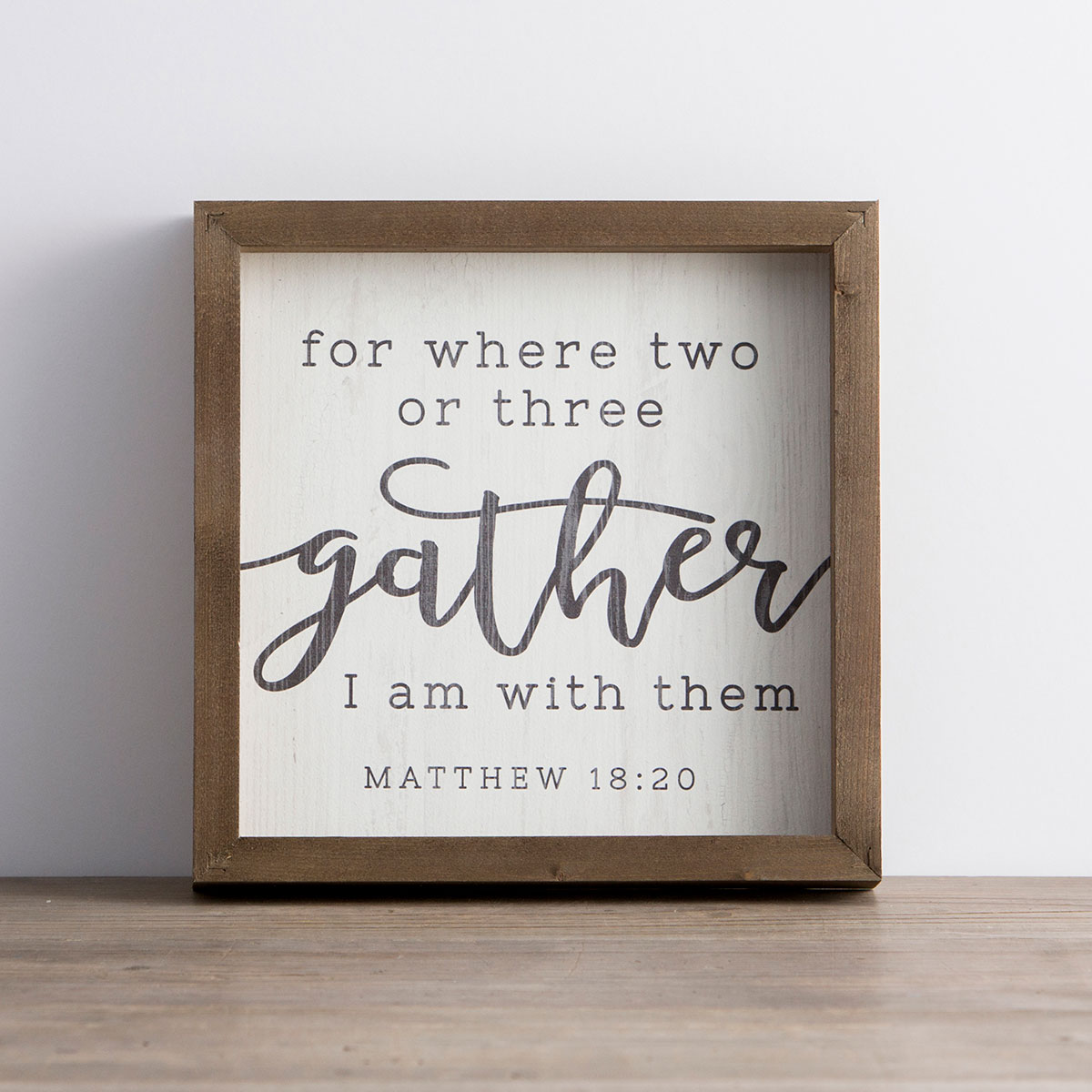 For Where Two or Three Gather - Framed Wall Board