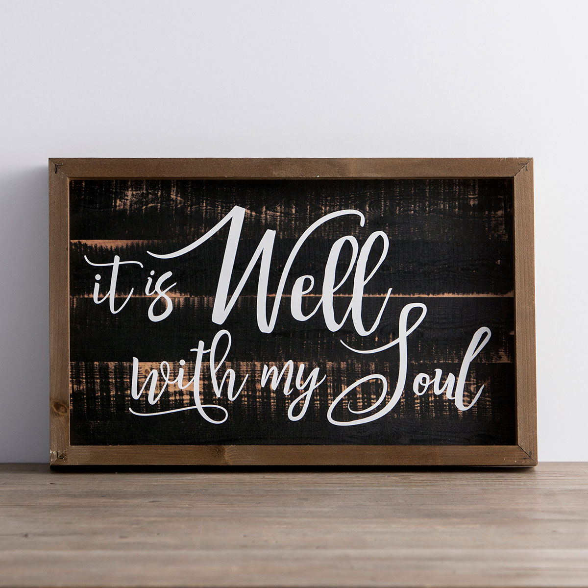 It Is Well with My Soul - Framed Wall Board