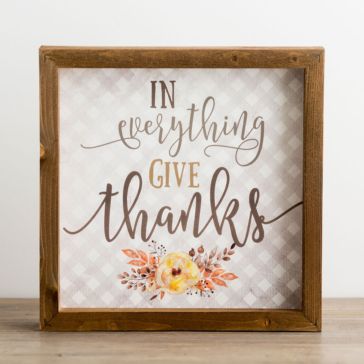 In Everything Give Thanks - Wood Framed Wall Art