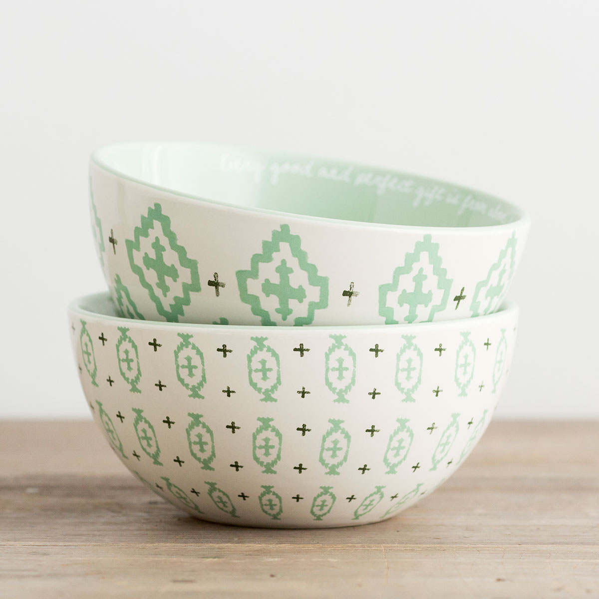 Every Good and Perfect Gift - 2 Ceramic Bowls - Set 1