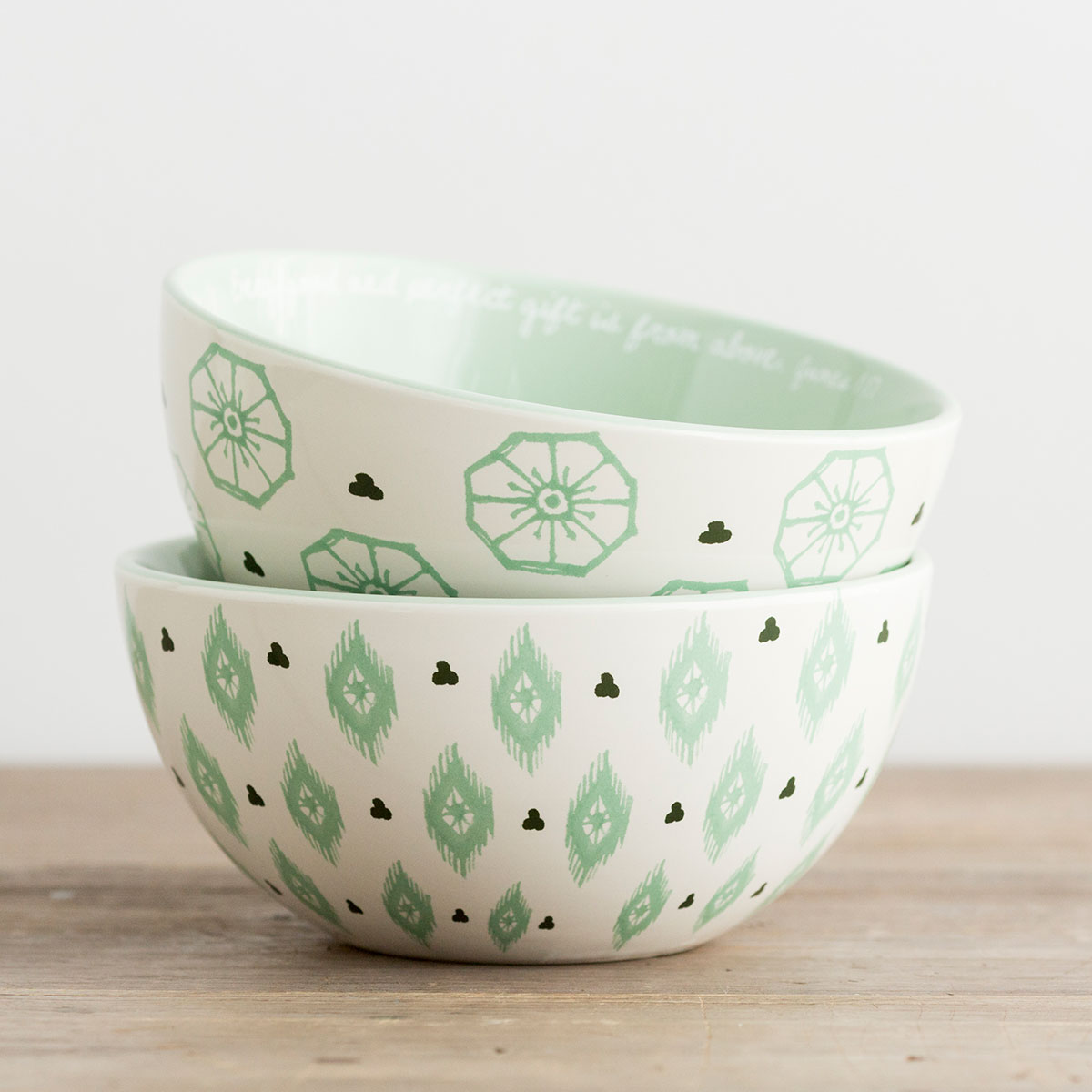 Every Good and Perfect Gift - 2 Ceramic Bowls - Set 2