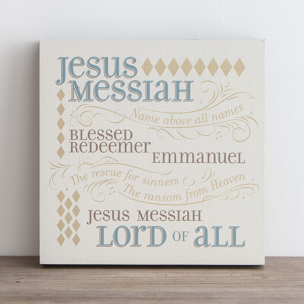 Lyrics for Life - Jesus Messiah - Wall Art