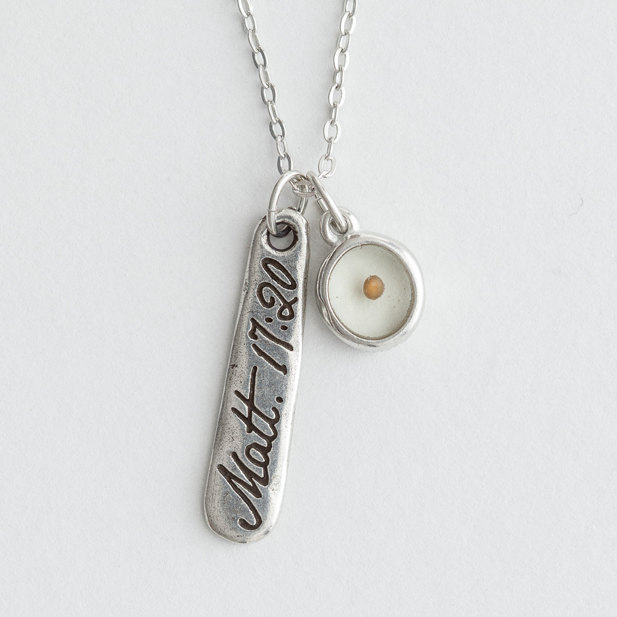 Faith As a Mustard Seed - Pendant Necklace