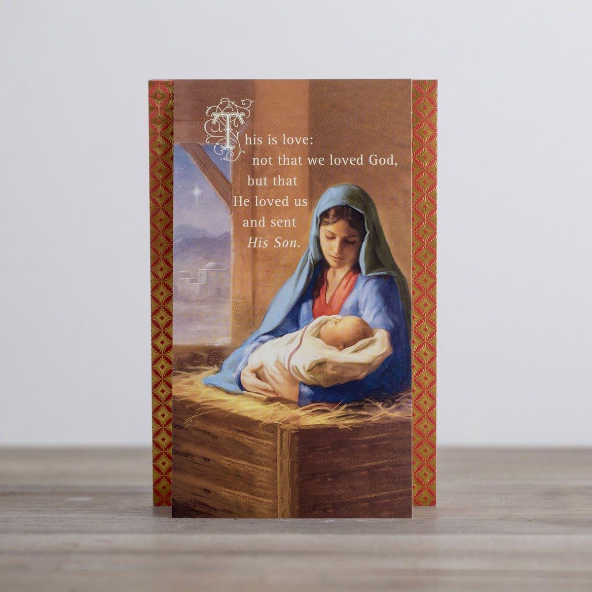 religious manger scene Christmas Boxed Cards