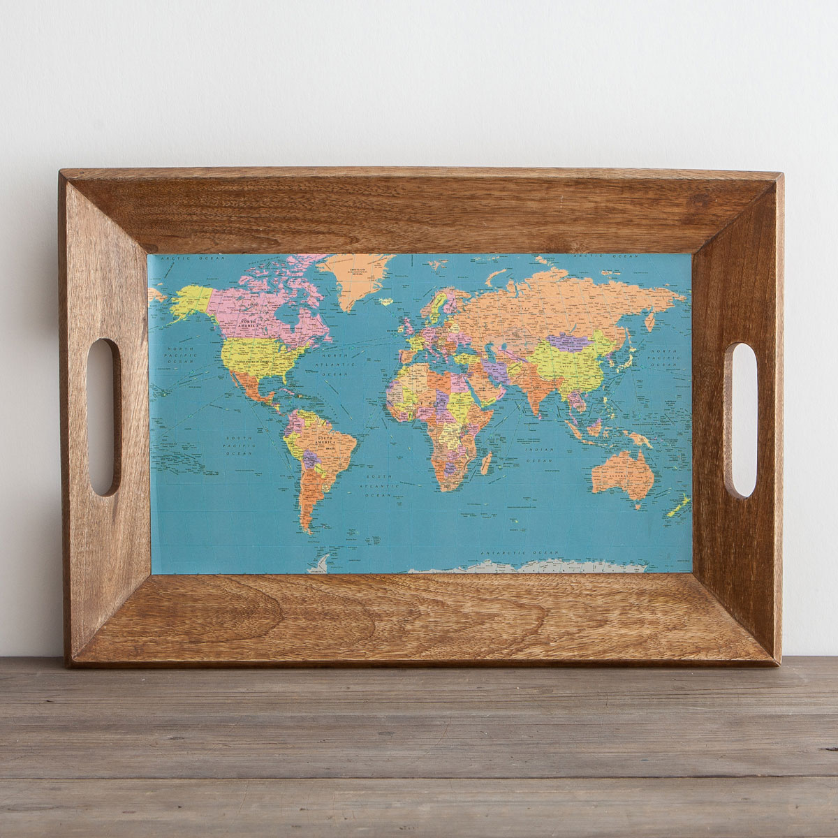 Map of the World - Wooden Tray