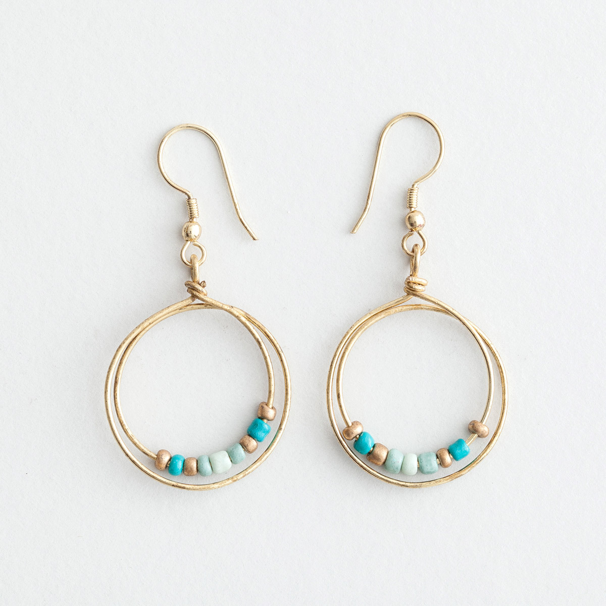 Village Artisan - Friendship Earrings, Blue