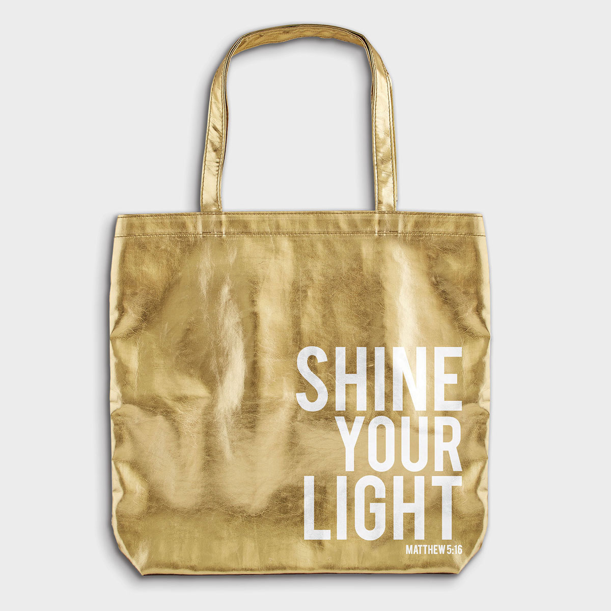 Shine Your Light - Gold Tote Bag