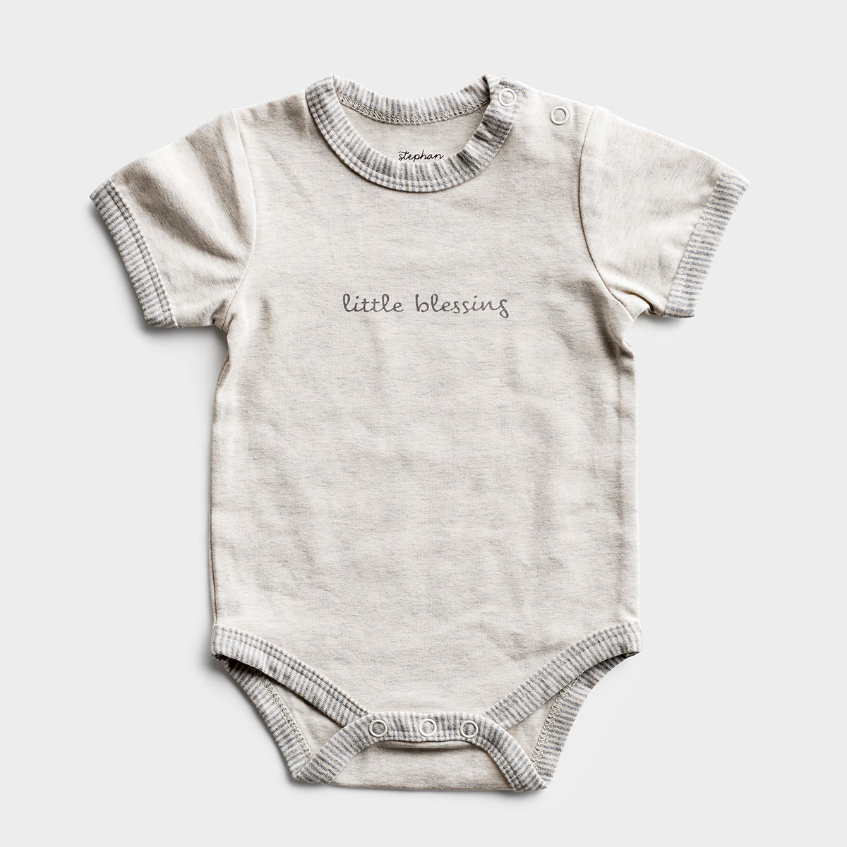 Little Blessing - Gray Baby Bodysuit