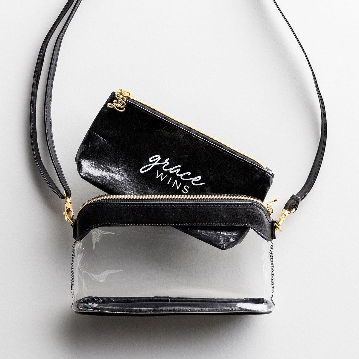 Grace Wins - Black - Clear Stadium Bag & Stadium Bag Insert Gift Set