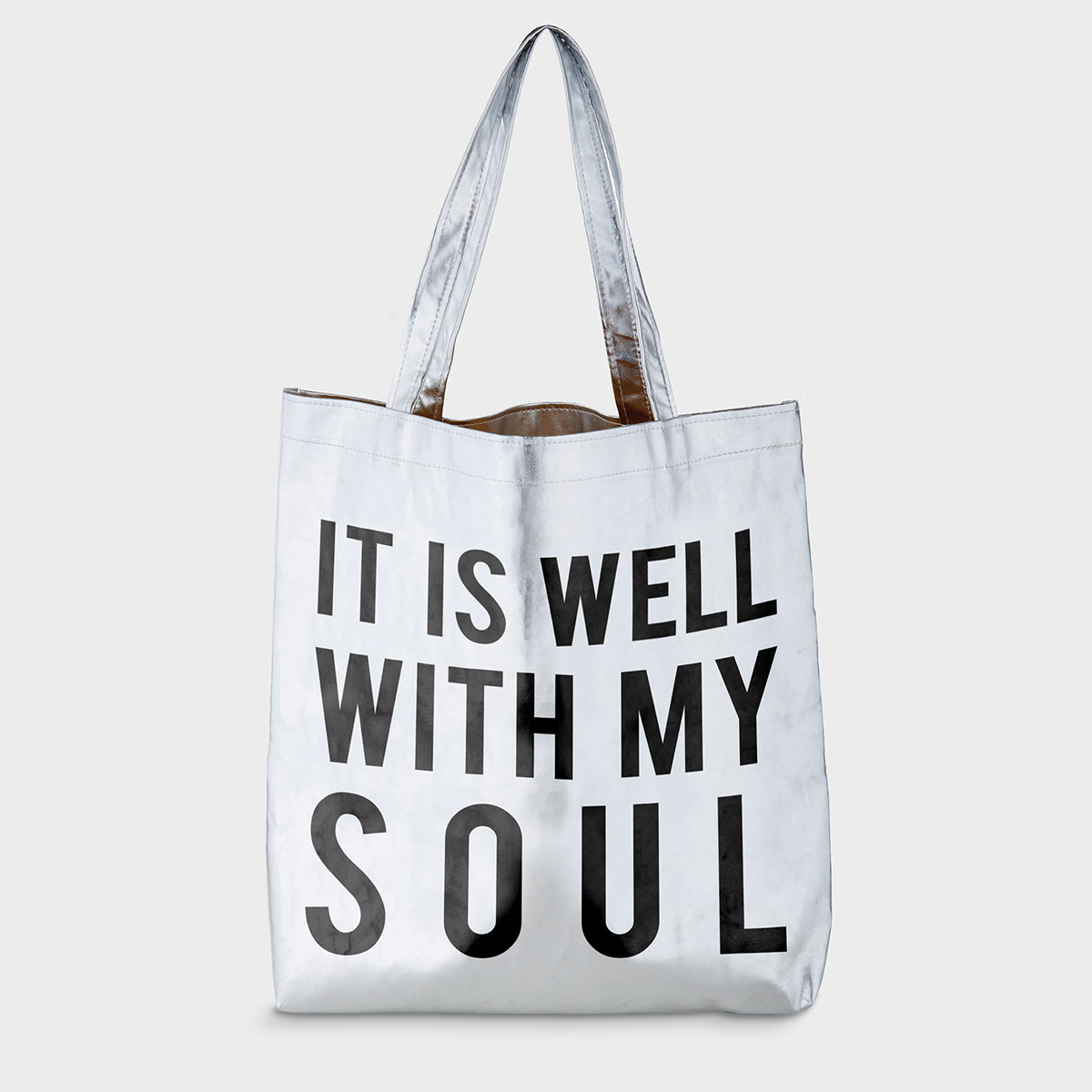 It Is Well with My Soul - Platinum Tote Bag