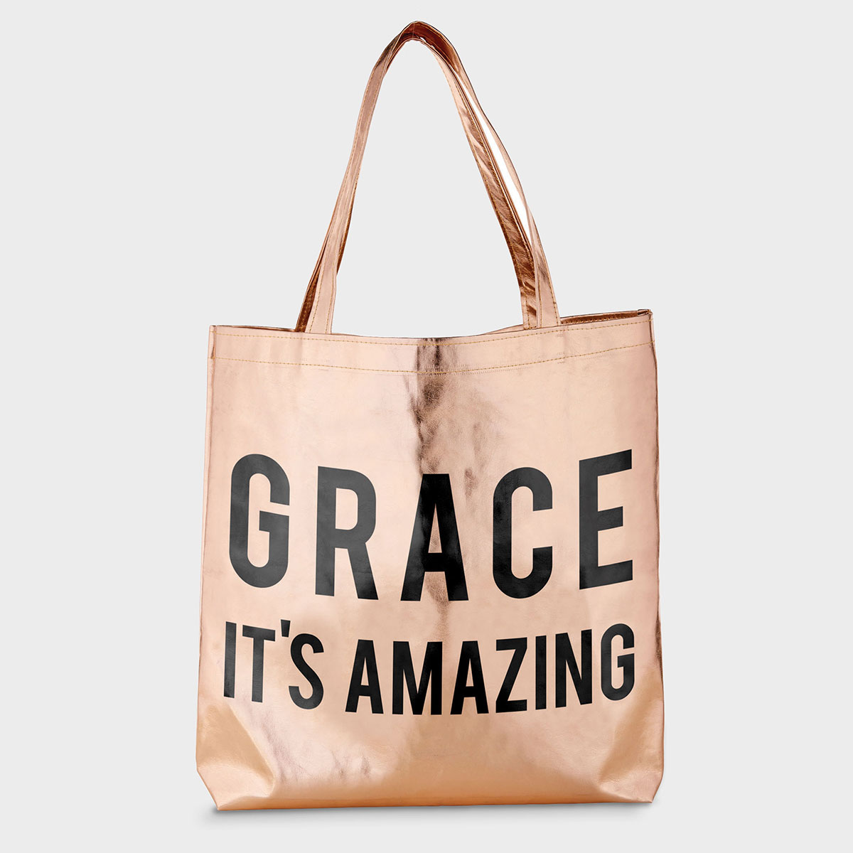 Grace It's Amazing - Rose Gold Tote Bag