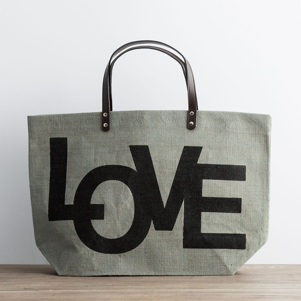 Love - Jute Tote Bag