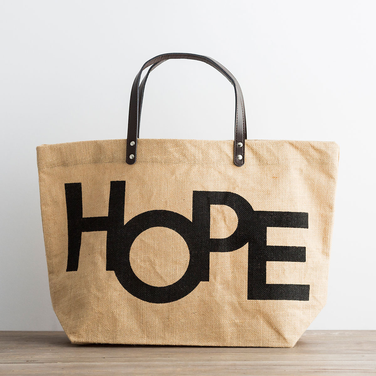 Hope - Jute Tote Bag