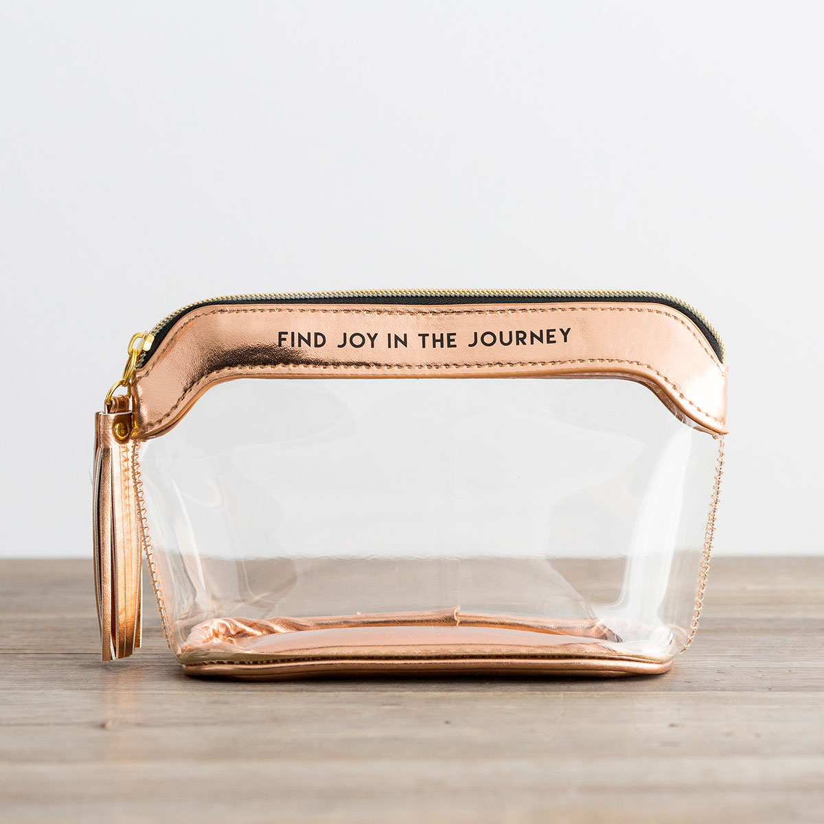 Find Joy in the Journey - Clear Travel Pouch