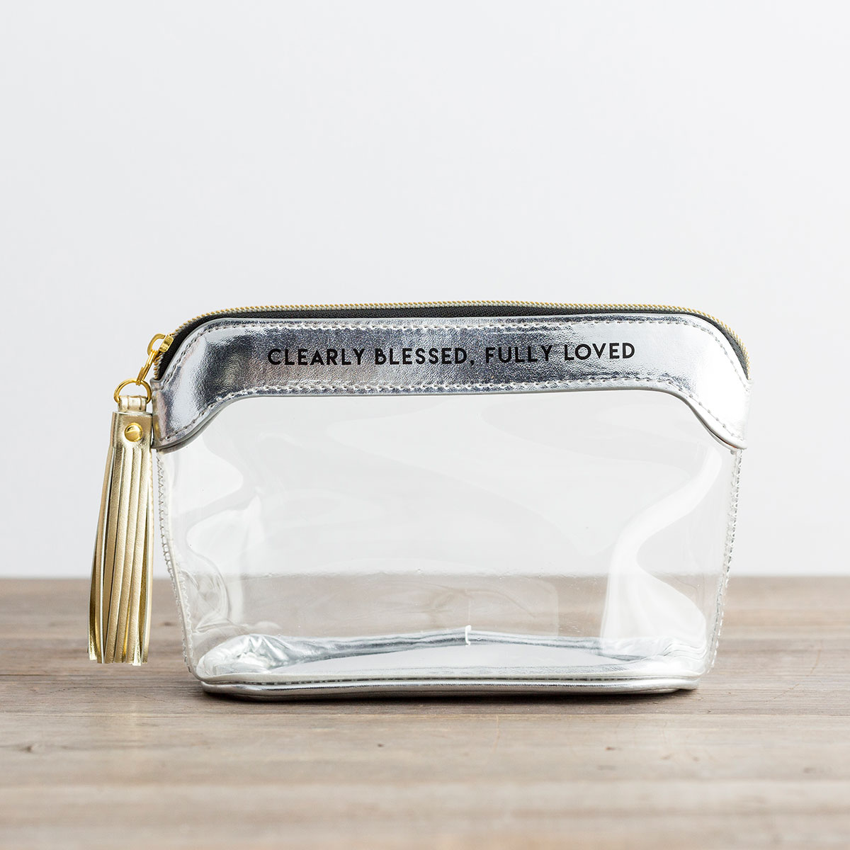 Clearly Blessed, Fully Loved - Clear Travel Pouch