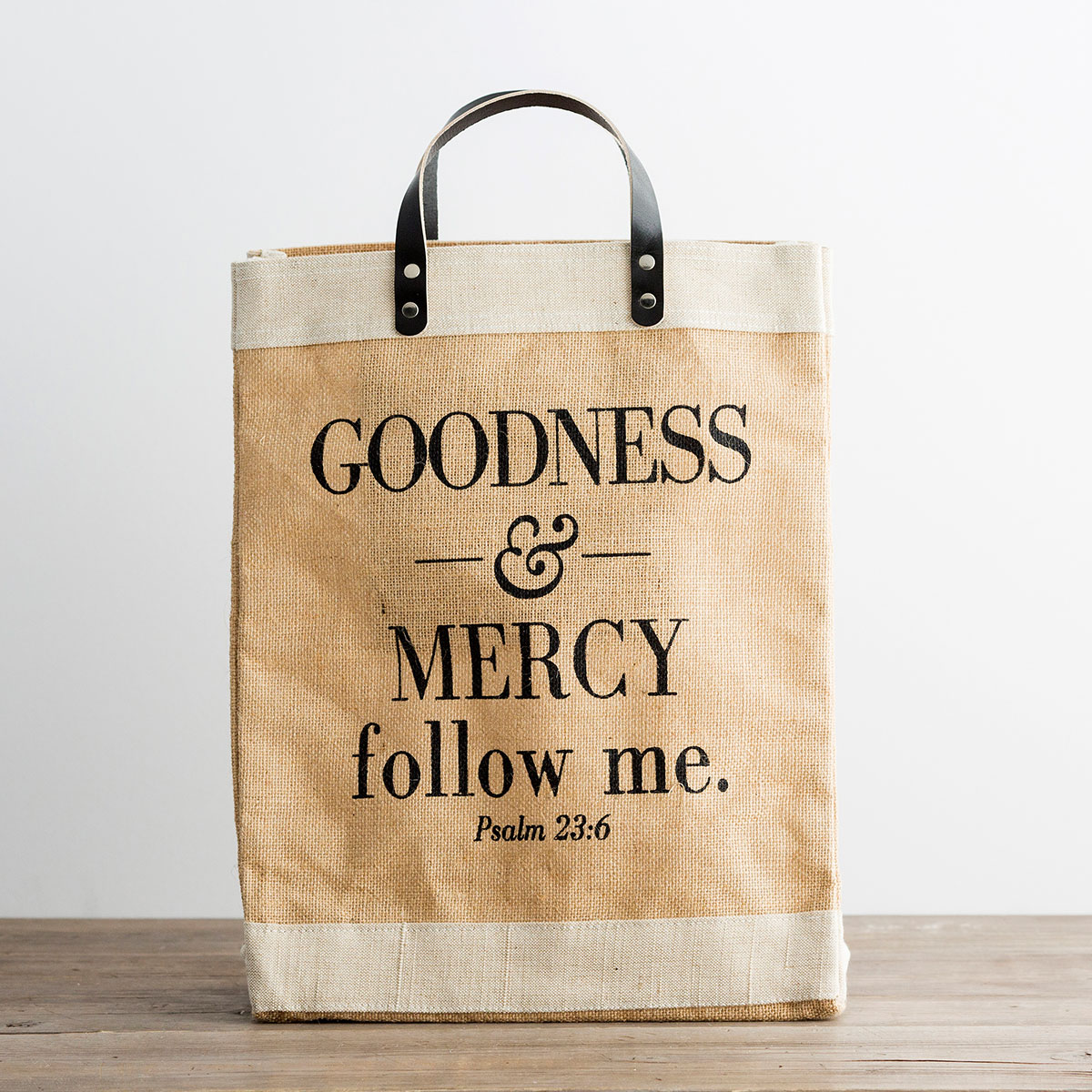 Goodness & Mercy - Market Jute Tote Bag