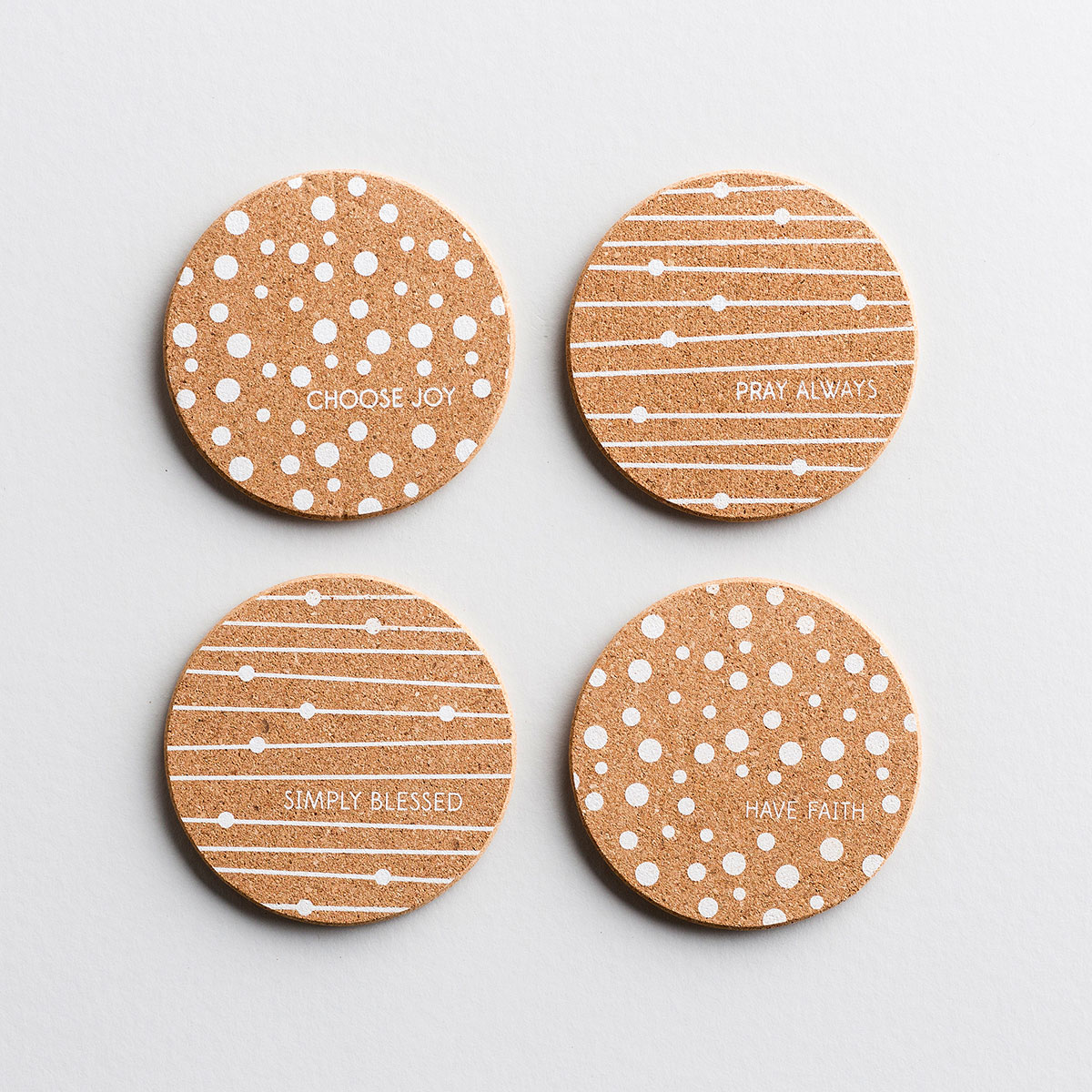 Choose Joy - Cork Coasters, Set of 4