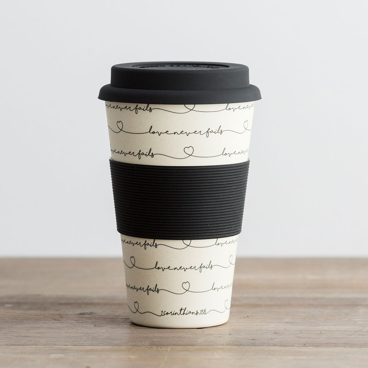 Love Never Fails - Bamboo Travel Cup