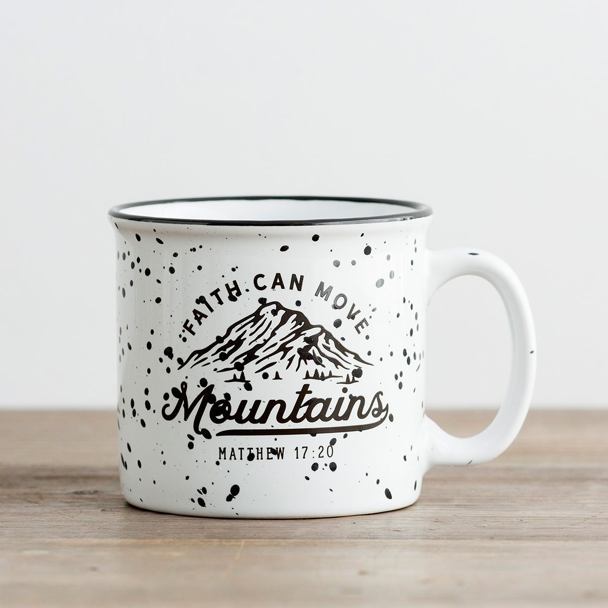 Faith Can Move Mountains - Ceramic Campfire Mug