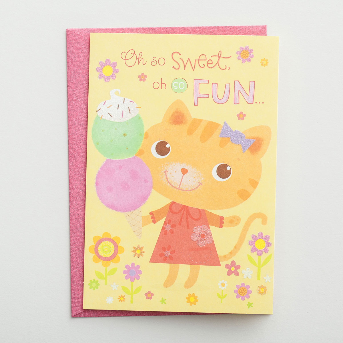 1st Birthday - Oh So Sweet - 1 Premium Card