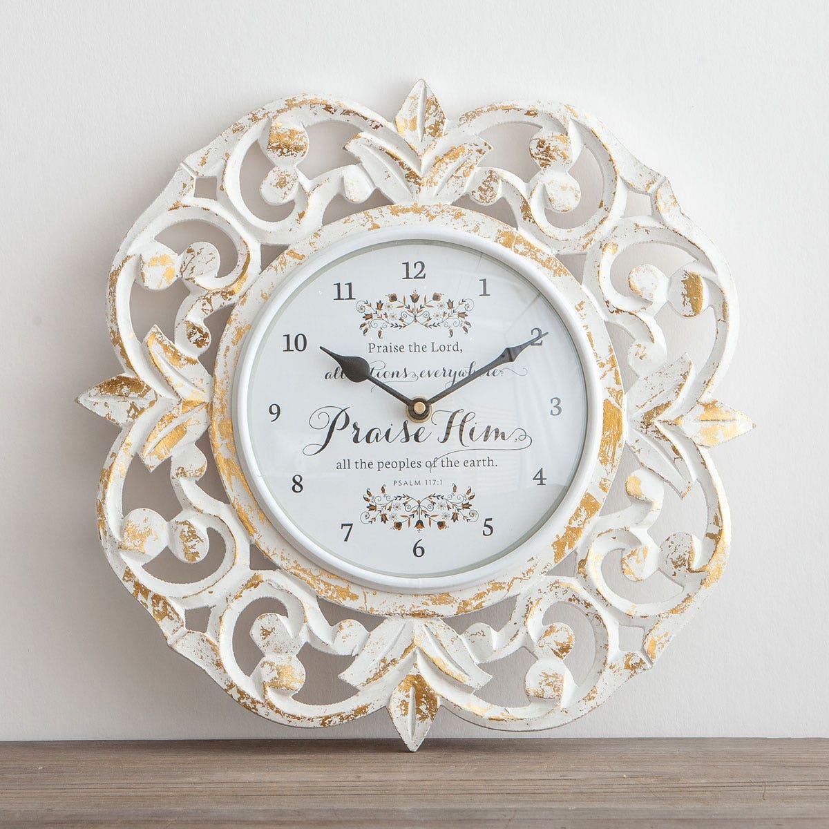 Praise Him - Wooden Clock