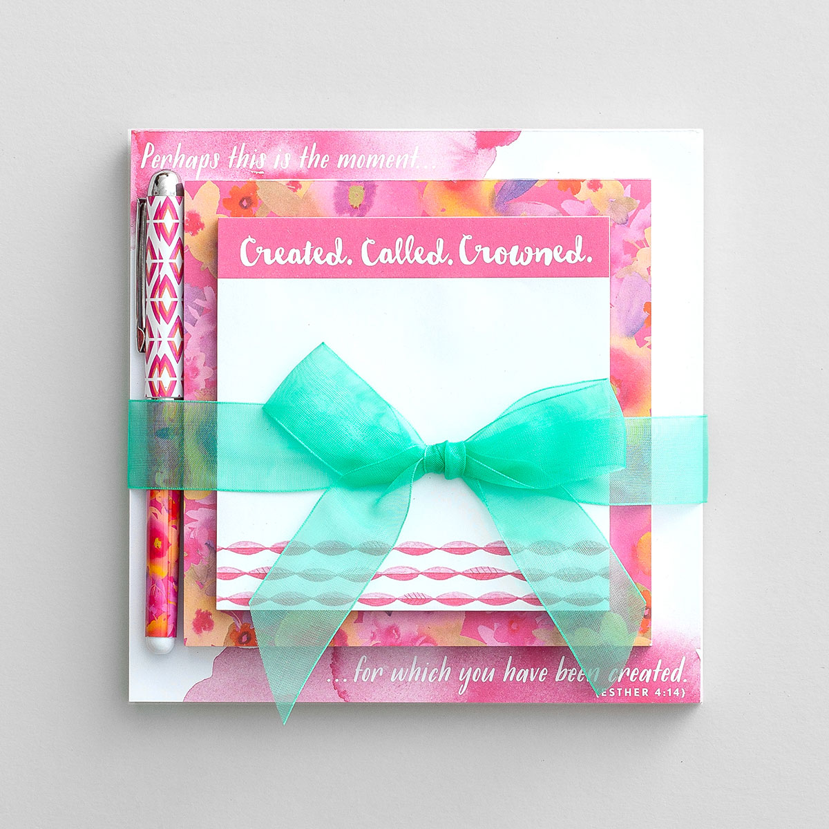 Created, Called, Crowned - 12 Memo and Pen Sets - Bulk Discount
