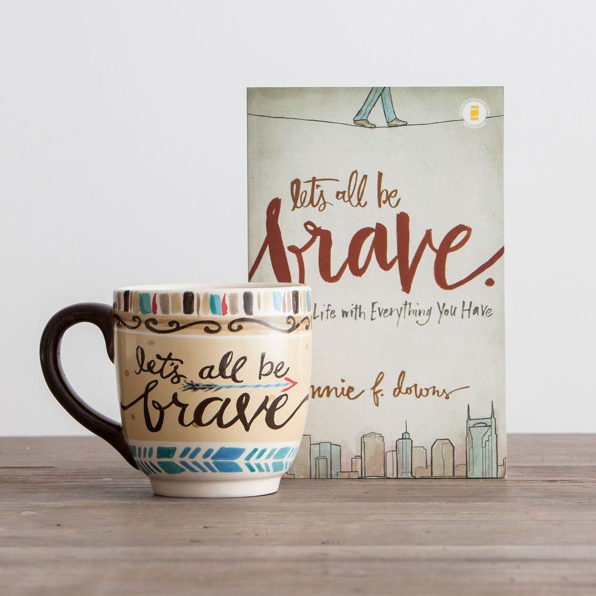 Be Brave Christian Book and Jumbo Mug Gift Set