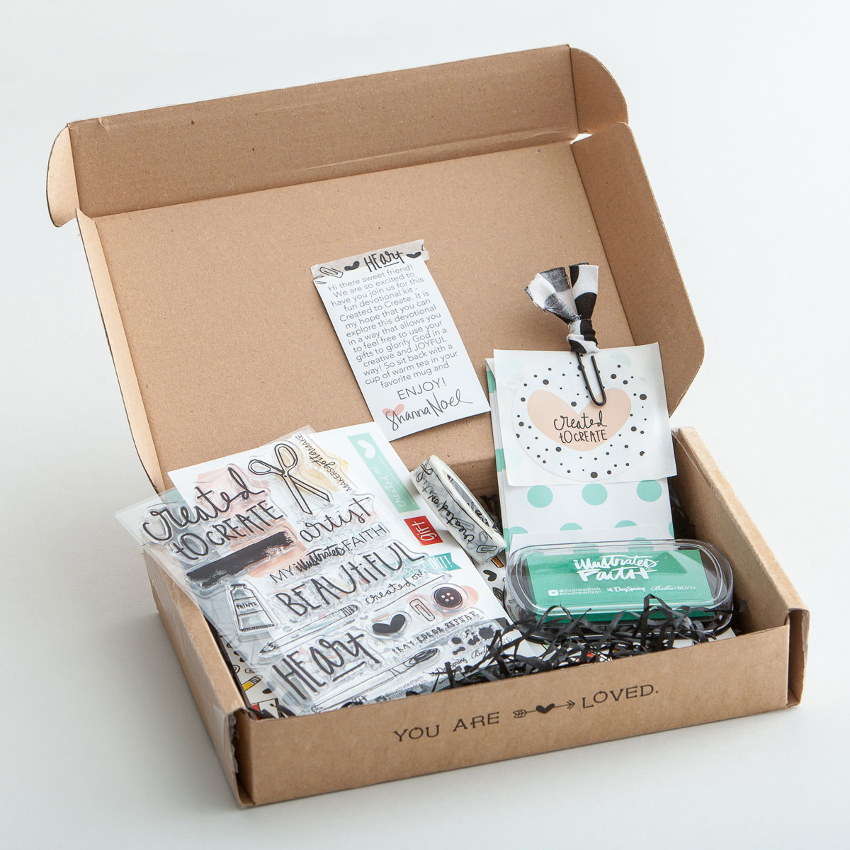 Illustrated Faith Created to Create Devotional craft Kit