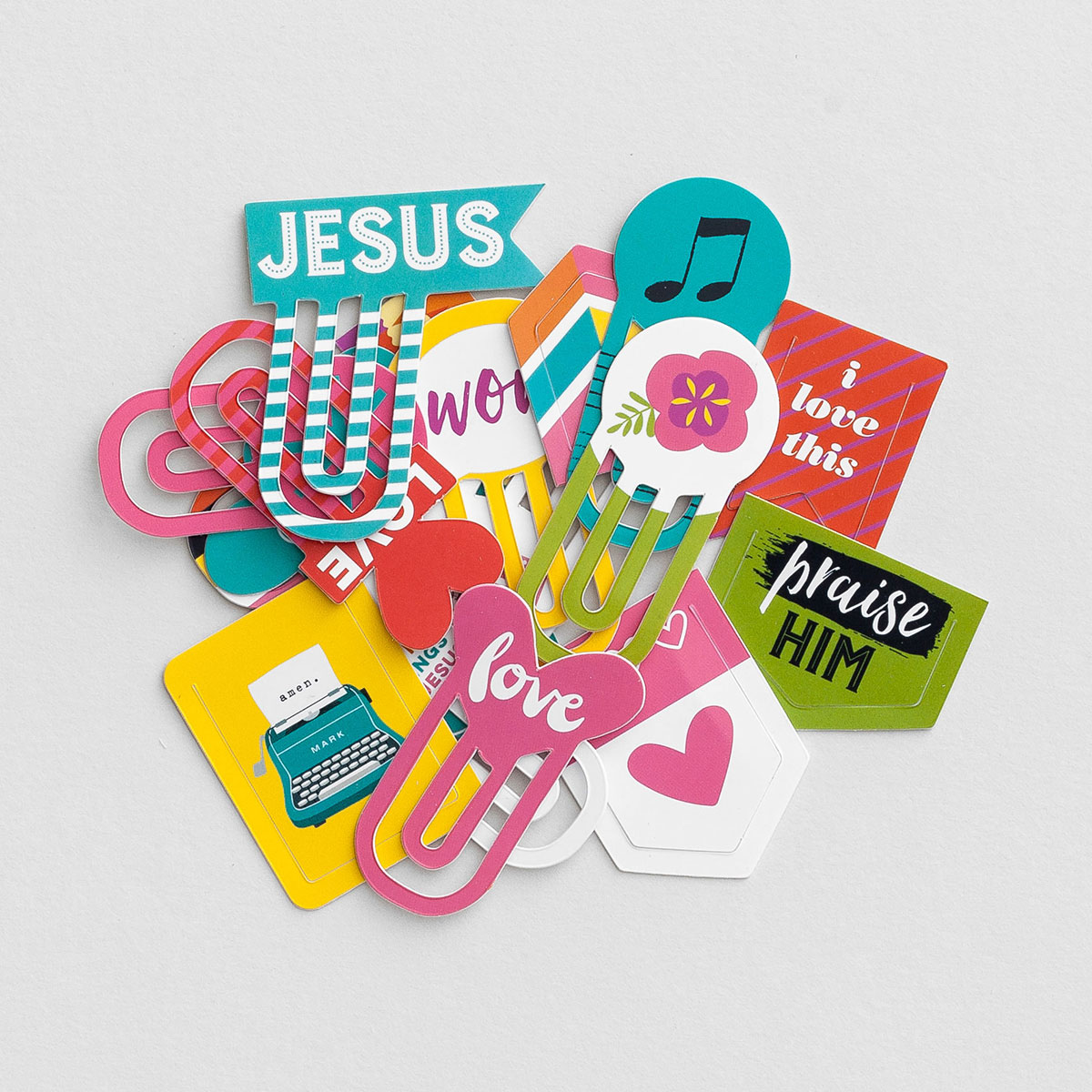 Illustrated Faith - Bright and Brave - 16-Piece Designer Clips