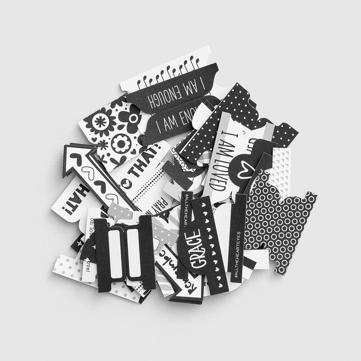 Illustrated Faith - Black & White - 47-Piece Tabs