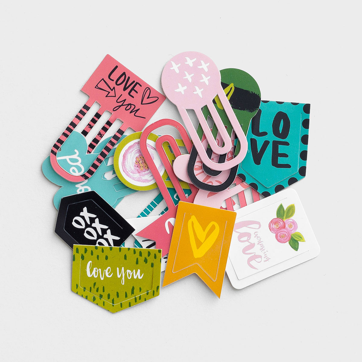 Illustrated Faith - You Are Loved - 16-Piece Designer Clips